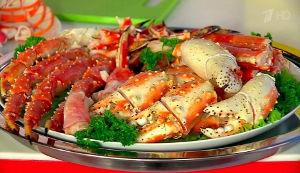 Новые блюда с камчатским крабом